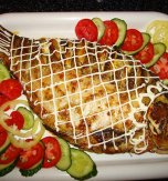 Carp stuffed with mushrooms