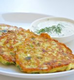 Marrow pancakes with cheese