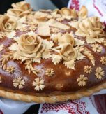 Wedding round loaf of bread