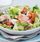 Light salad with seafood