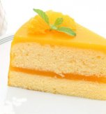Cottage-cheese cake with orange