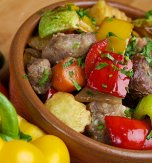 Stewed pork with vegetables