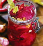 Pickled cabbage and beetroot salad