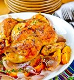 Orange stuffed chicken