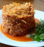 Baked cabbage with tomatoes