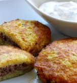 Potato Flapjacks Stuffed with Ground Meat