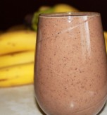 Milk, Chocolate, and Banana Smoothie
