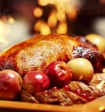 Roast Duck with Apples and Honey Sauce