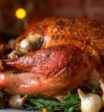 Roast Chicken with Mushroom, Cheese, and Breadcrumbs Stuffing