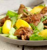 Warm Liver and Apple Salad