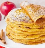 Pumpkin Apple Pancakes with Cinnamon