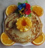 Pancakes with Flavorful Oranges