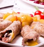 Chicken Kruchenyky (Rolls) with Cheese and Salo Filling