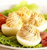 Eggs Stuffed with Turkey Spread