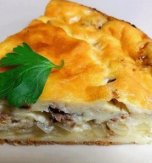 Fish and rice pie
