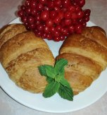 Croissants with guelder rose berry filling