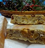 Rich Christmas cake with lots of dried fruits and nuts