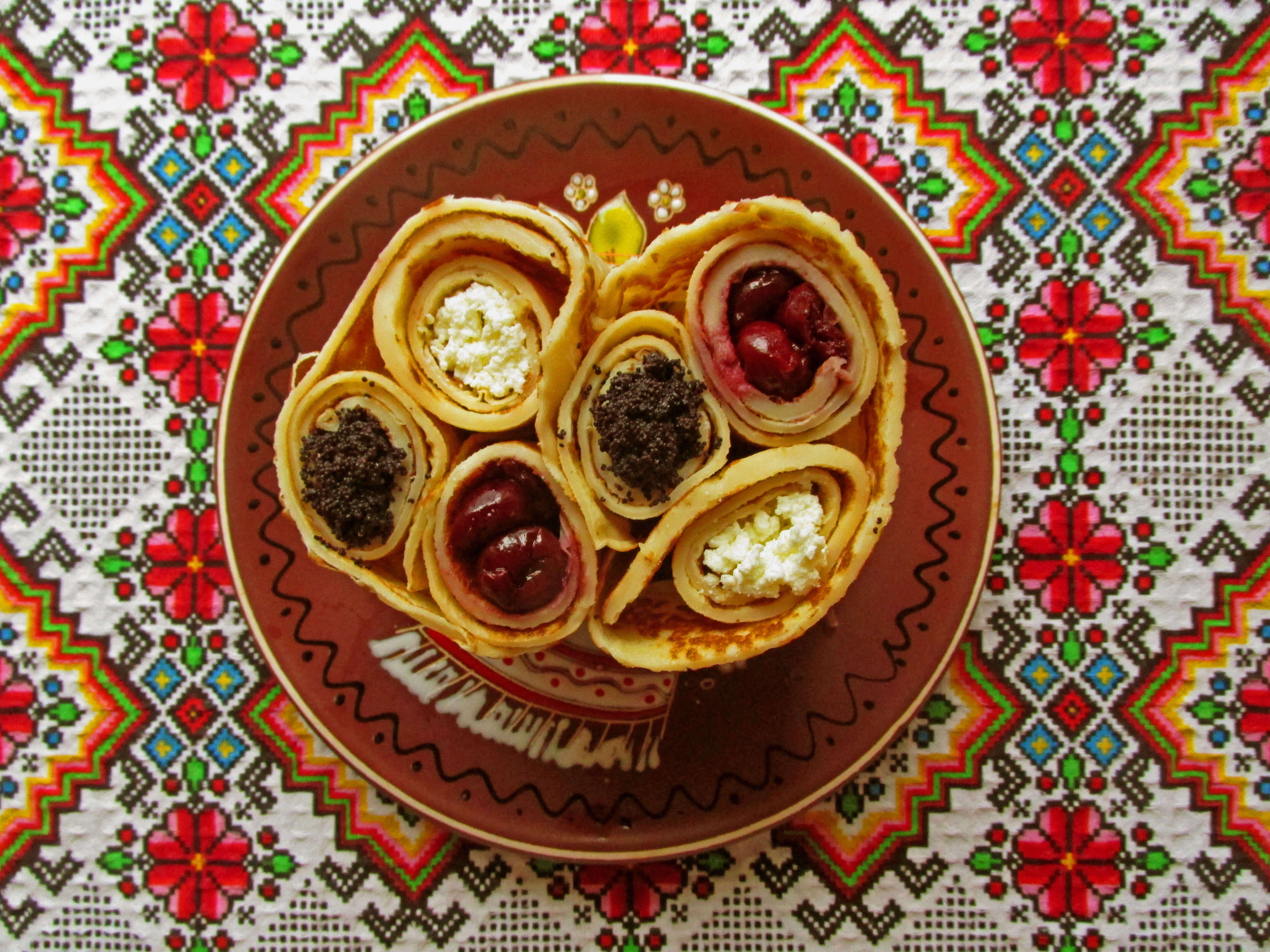 Delicious filled crepes ukrainian recipes for a tasty life if you are looking for inspiration to cook something bright and festive then take notice of this dessert being rather easy to make it looks very bright forumfinder Images