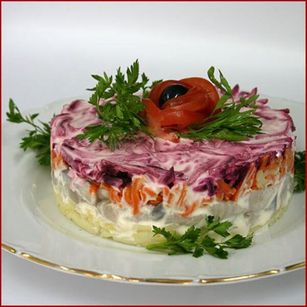Salad with herring recipe
