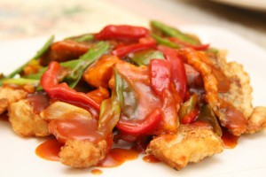 Stewed fish with vegetables