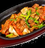 Fried pork with vegetables