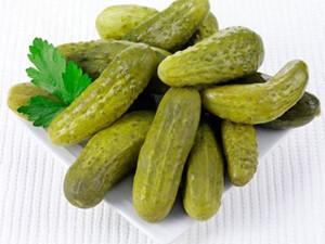 Preserved cucumbers