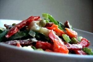 Potato salad with smoked sausage