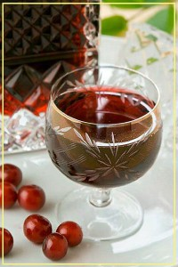 Cherry liqueur with cinnamon and nutmeg