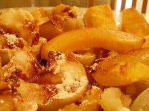 Stewed pumpkin with apples