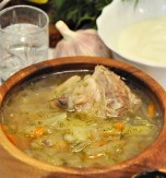 Ukrainian kapustniak (pork and pickled cabbage soup)