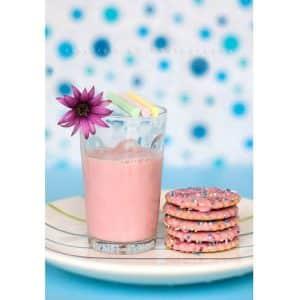 Pink milk drink