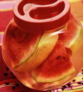 Marinated watermelon