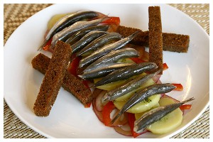 Jellied anchovies