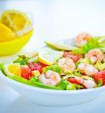 Shrimp and grapefruit salad