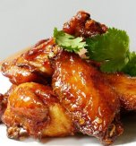 Honey baked chicken wings or the ultimate finger food