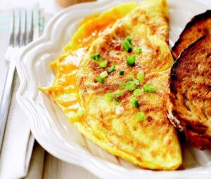 Omelet with liver