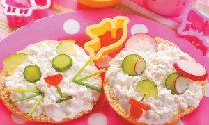Cucumber, bell pepper, and radish sandwich