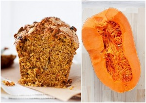 Pumpkin bread with sesame seeds
