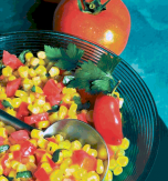 Stewed tomatoes and sweet corn
