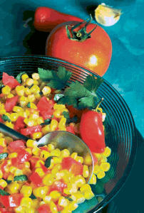 Stewed corn and tomatoes