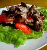 Goose liver salad