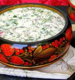 Traditional soup okroshka