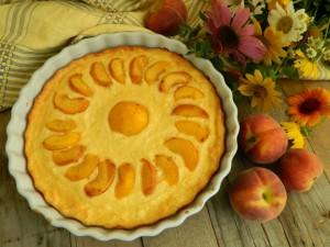 Peach pie with vanilla sugar