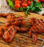 Chicken shashlyk with vegetables