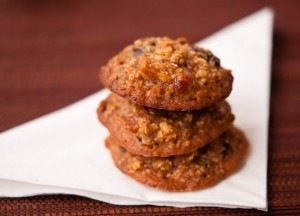 Cookies with raisins, walnuts, and prunes