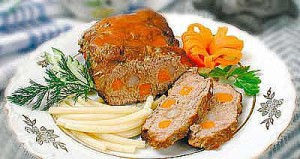 Steamed beef, carrot, and parsnip