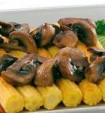 Mushrooms with corn