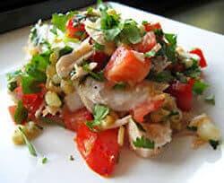 Pink salmon salad