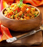 Meat pilaf with vegetables