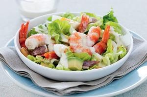 Shrimp and veggie salad
